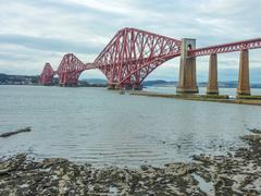 The forth railway bridge near edinburgh, scotland Stock Photos