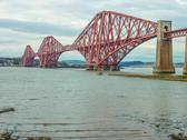 Stock Photo of the forth railway bridge near edinburgh, scotland
