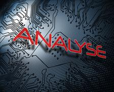 Stock Illustration of Analyse against illustration of circuit board