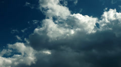 Soft Clouds Time Lapse Stock Footage