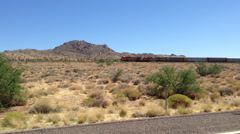 American goods train rolling west. - stock footage