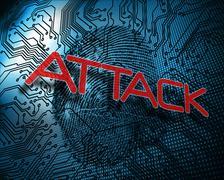 Attack against illustration of blue fingerprint Stock Illustration