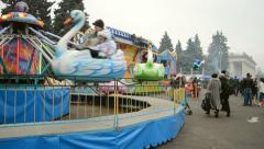 Shrovetide (Maslenitsa) celebration in Kiev, Ukraine. Stock Footage