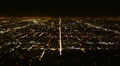 4K Los Angeles Night View 38 Zoom Out Timelapse Traffic Footage