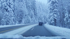 Road to Cypress Bowl ski area BC Stock Footage