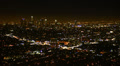 4K Los Angeles Night View 39 Panning L Timelapse Traffic Footage