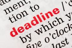 Deadline Word Definition - stock photo