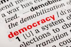 Democracy Word Definition Stock Photos