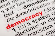 Stock Photo of Democracy Word Definition