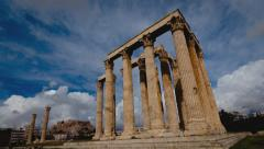 4K Olympeion timelapse Ancient Temple of Olympian Zeus 2 25p - stock footage