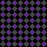 Black, purple and gray argyle pattern repeat background Stock Illustration