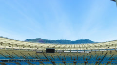 The new Maracana Stadium in Rio de Janeiro, Brazil Stock Footage