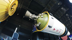 Upper Stage of Saturn V Rocket HD Stock Footage