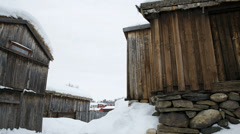 Roros Norway unesco world heritage site 4K Stock Footage