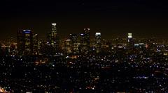 4K Los Angeles Night View 42 Timelapse Traffic Stock Footage