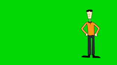 Green Screen explainer video Character Animation Stock Footage