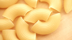 Dry pasta close up moving Stock Footage