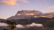 Stock Video Footage of Moving Cloud Against Mount Kinabalu Peak