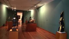 Museum Exhibits, Artwork, Culture Stock Footage