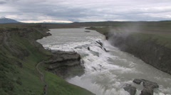 Gullfoss waterfall Stock Footage