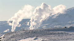 Geothermal powerplant in Iceland Stock Footage