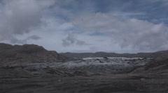 Solheimajokull glacier Stock Footage
