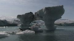 Jokulsarlon Glacier lagoon iceberg. Stock Footage