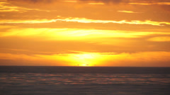 Stock Video Footage of Complete Pacific Sunset Timelapse