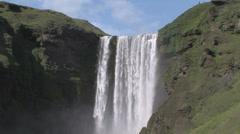 Skogafoss waterfall Stock Footage