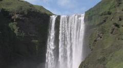 The beautiful Skogafoss waterfall Stock Footage