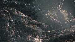 Close up icy water Stock Footage