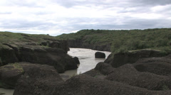 Hvita glacier river in Iceland Stock Footage