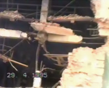 Grozny, the ruined city. Chechnya 1995. Stock Footage