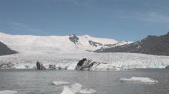 Fjallsjokull glacier lagoon Stock Footage