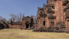 The Khmer temple at Phanom Rung Historical Park - 40 Stock Footage