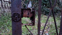 Old haunted cemetery 4k [rusty gate] Stock Footage