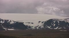 Langjokull glacier in Iceland Stock Footage