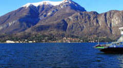 Ferry boat Lake Maggiore, Italy Stock Footage