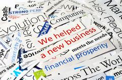 new business - stock photo