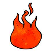 Stock Illustration of cartoon flame symbol