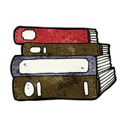 cartoon old books - stock illustration