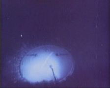 The launch of a ballistic missile from a submarine. Stock Footage
