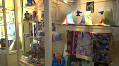 Gift Shop, Trinkets, Store, Tourism Stock Footage