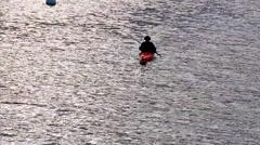 Person Leisurely Kayaking - stock footage