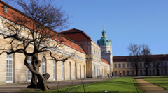 Side of Charlottenburg Palace Stock Footage