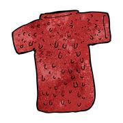 cartoon woolly tee - stock illustration