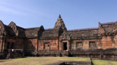 The Khmer temple at Phanom Rung Historical Park - 27 Stock Footage