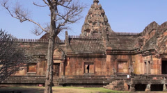 The Khmer temple at Phanom Rung Historical Park - 26 Stock Footage