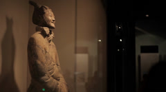 The famous terracotta warriors of Xian Stock Footage