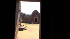 The Khmer temple at Phanom Rung Historical Park - 19 Stock Footage